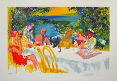 "Leroy Neiman ""Wine Alfresco"" Hand Signed/Numbered Serigraph"