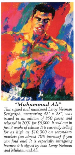 Muhammad Ali - Limited Edition - Hand signed and numbered by LeRoy Neiman