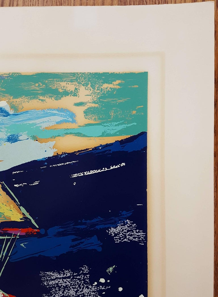 An original signed screenprint on heavy wove paper by American artist Leroy Neiman (1921-2012) titled