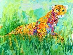 Prowling Leopard - Limited Edition Lithograph by LeRoy Neiman
