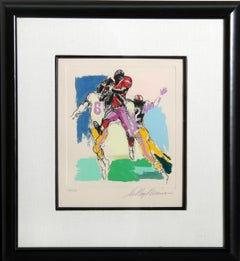 Receiver, Football Color Etching by LeRoy Neiman