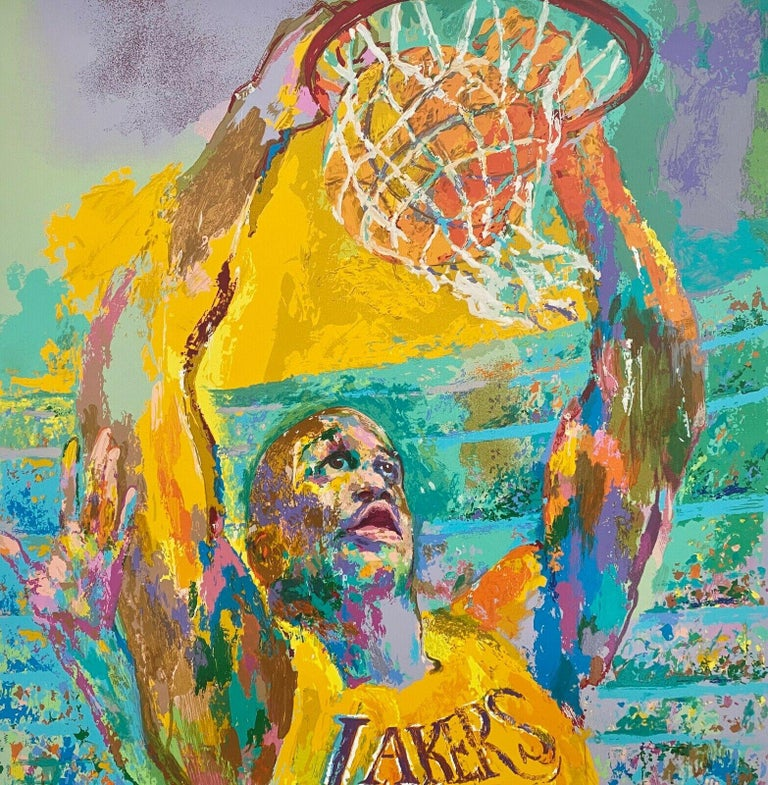 Shaq (Shaquille O'Neal / Los Angeles Lakers) - Print by Leroy Neiman