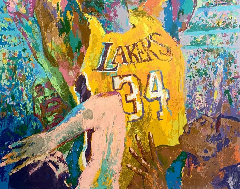 Shaq (Shaquille O'Neal / Los Angeles Lakers) - Pop Art Print by Leroy Neiman