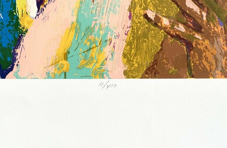 Shaq (Shaquille O'Neal / Los Angeles Lakers) - Brown Landscape Print by Leroy Neiman
