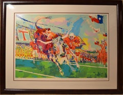 Texas Longhorns - Limited Edition Serigraph by LeRoy Neiman