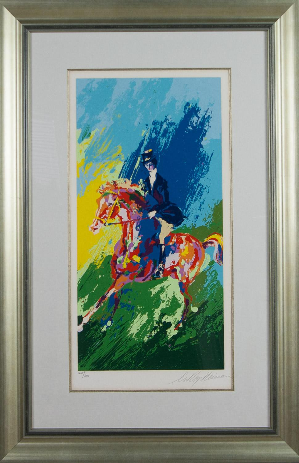 The Equestrian lithograph by Leroy Neiman