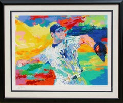 The Rocket: Roger Clemens, Yankees Baseball Pitcher by LeRoy Neiman