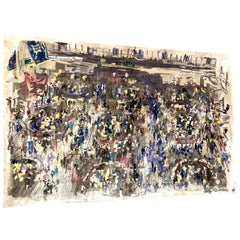 LeRoy Neiman Silk Tapestry, Signed and Numbered