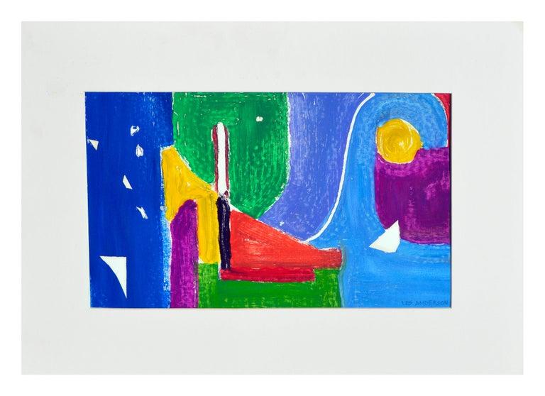 Les Anderson Abstract Painting - Marina Abstract