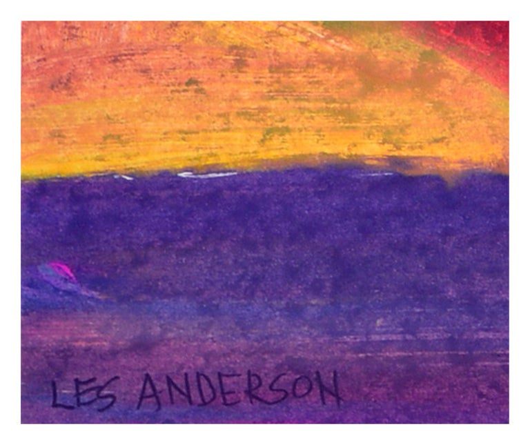 Multi Colored Abstract - Gray Abstract Painting by Les Anderson