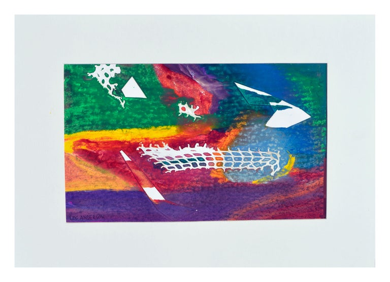 Les Anderson Abstract Painting - Multi Colored Abstract