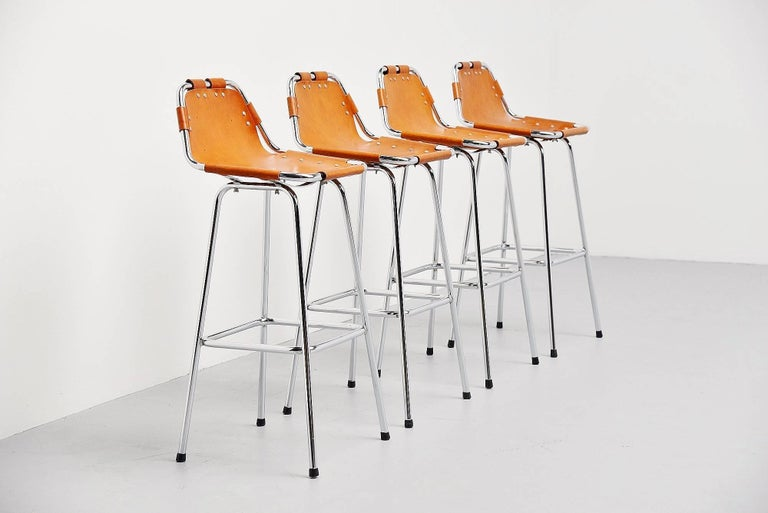 Les Arcs Bar Stools Used by Charlotte Perriand, 1960 For Sale 1