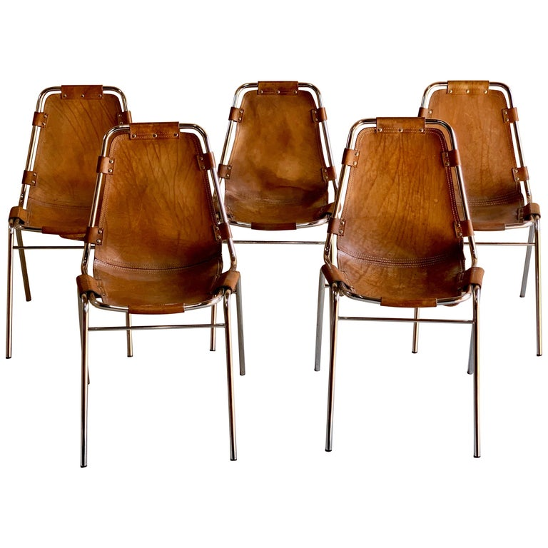 Set of five Les Arcs dining chairs, 1960s, offered by Splendid Antiques