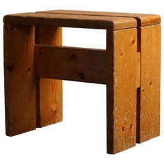 Les Arcs Pine Stools by Charlotte Perriand