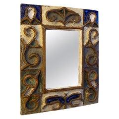 Les Argonautes Ceramic Mirror, France, 1960s