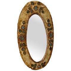Ceramic Mirror, France, Vallauris, 1960s