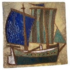 Les Argonautes Ceramic Panel, France, Vallauris, 1960s