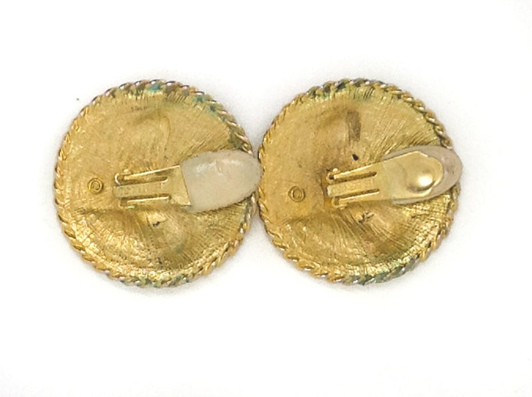 LES BERNARD Earrings Vintage 1980s Clip on  For Sale 1