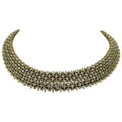 Les Bernard Encrusted Crystal Choker Necklace Never Worn - Vintage