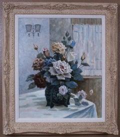 {Floral Still Life of Roses}