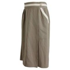 Les Copains Beige Wool Pencil Skirt