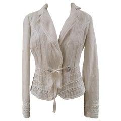 Les Copains Linen white jacket