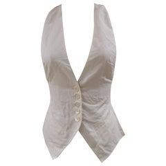 Les Copains white cotton vest