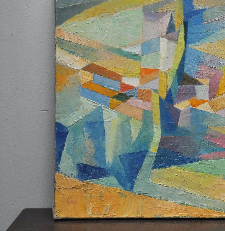 Mid-Century Modern Les Deux Peupliers Abstract For Sale