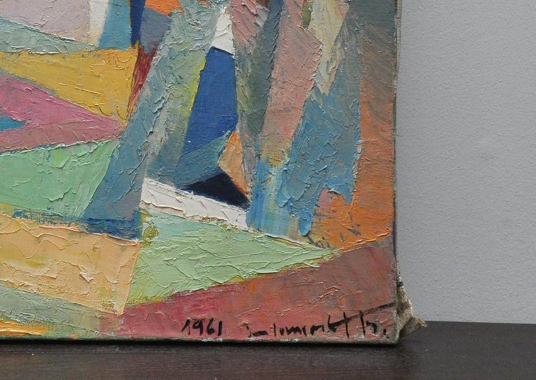 French Les Deux Peupliers Abstract For Sale