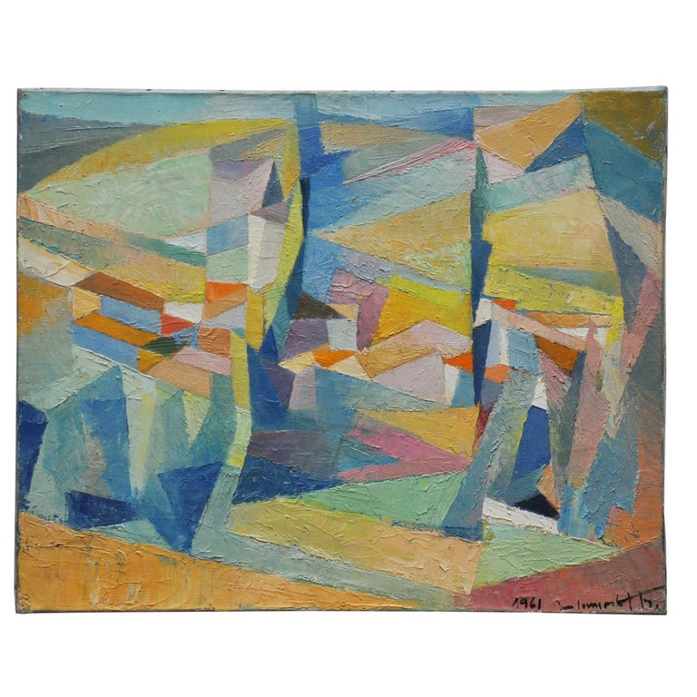Les Deux Peupliers Abstract For Sale