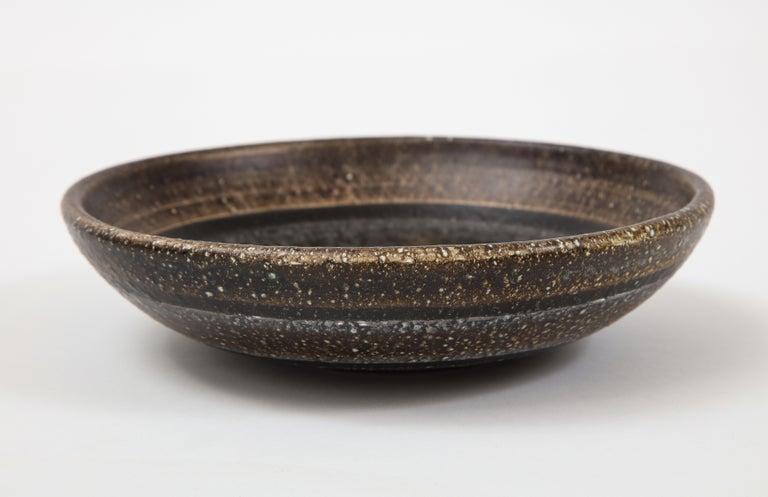Les Deux Potiers '2 Potiers' Ceramic Dish, France, c. 1960, Signed '2 Potiers