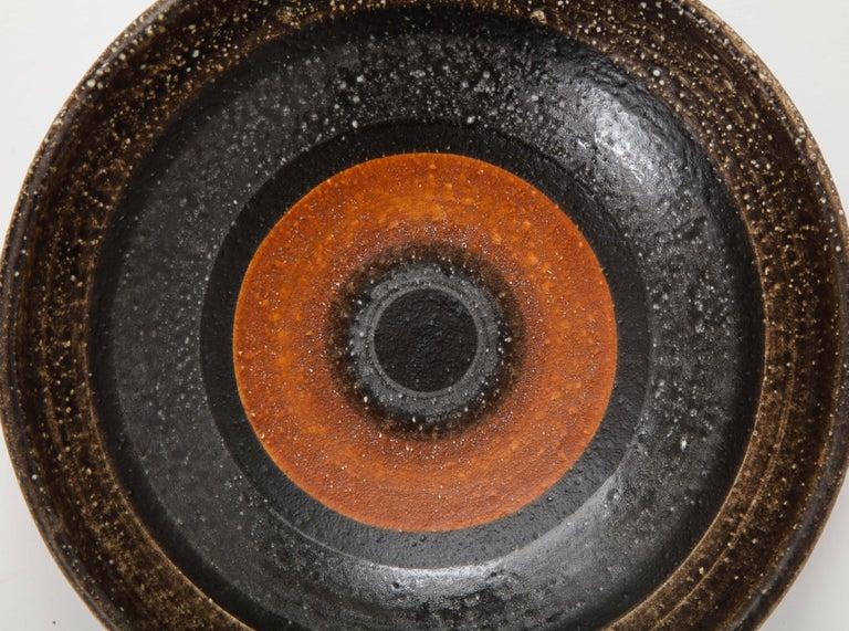 Mid-20th Century Les Deux Potiers '2 Potiers' Ceramic Dish, France, c. 1960, Signed '2 Potiers