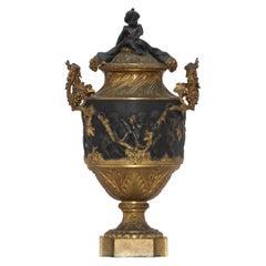 """""""Les Enfants de Bacchus"""" a 19th Century Bronze Covered Vase"""