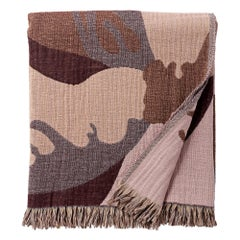 Les Fleurs Multi-Color Wool and Bamboo Woven Throw Cover