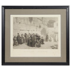 Les Juifs Devant le mur de Salomon, Jews at the Western Wall, Engraving, c. 1880