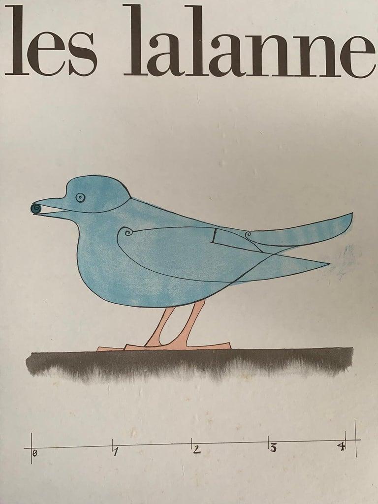 Mid-Century Modern Les Lalanne Poster Paris CNAC Exhibit, 1975