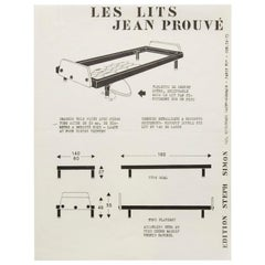 """Les Lits"" Jean Prouvé by Steph Simon Editions Booklet Print"