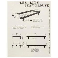 """""""Les Lits"""" Jean Prouvé by Steph Simon Editions Booklet Print"""