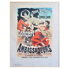 Les Maitres De L' Affiche Jules Chéret Imprimerie Chaix French Lithograph Poster
