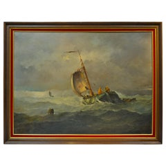"""Les Marins Avant La Tempete"" 'Before the Storm' by Johannes Hilverdink"