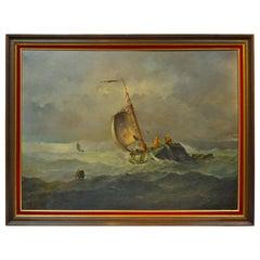 """""""Les Marins Avant La Tempete"""" 'Before the Storm' by Johannes Hilverdink"""