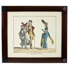 Les Mérveilleuses, 19th Century, Figurative Print on Paper