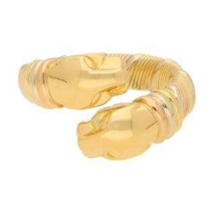 Panthère de Cartier Double Panther Dress Ring Set in 18k Tri-Gold