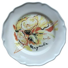 Les Ottomans Bosphorus Suite 'Magnolia Design' Ceramic Plate by Chez Dede