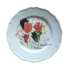 Les Ottomans Bosphorus Suite 'Tulips' Design Plate by Chez Dede