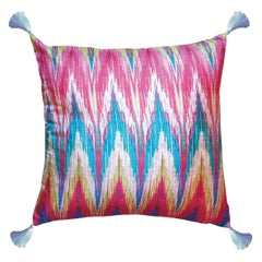 Les Ottomans, Ikat 'Silk Cushion' by Matthew Williamson