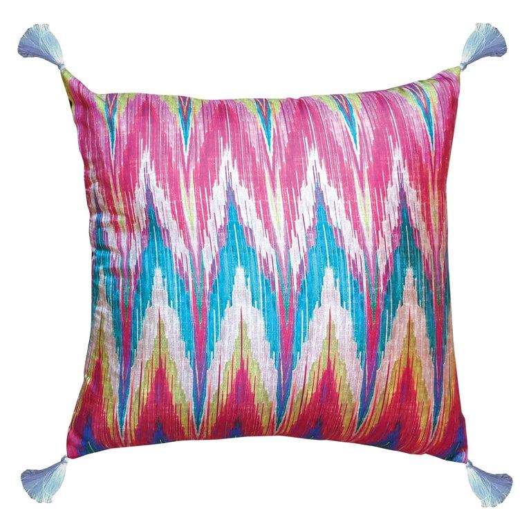 Les Ottomans, Ikat 'Silk Cushion' by Matthew Williamson For Sale