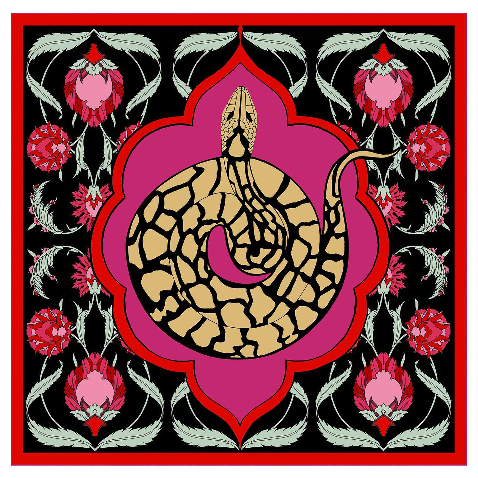 Les Ottomans Python Patterned Silk Turkish Scarves by Alessio Nessi