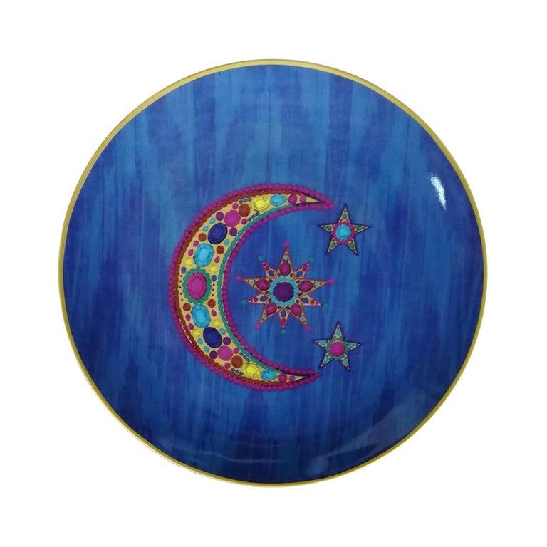 "Les Ottomans ""The Moon Design"" Large Porcelain Plate by Matthew Williamson For Sale"