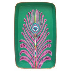 "Les Ottomans ""The Peacock Design"" Rectangular Iron Tray by Matthew Williamson"